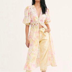 Free People Sabrina Eyelet Kimono